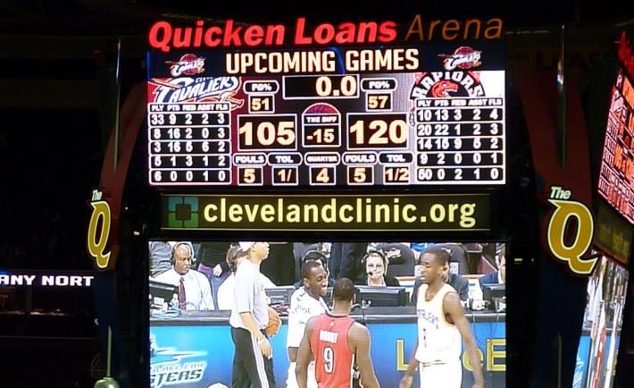 Cleveland Cavaliers Scoreboard The Diff