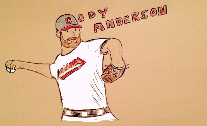 Cleveland Indians Cody Anderson doodle by Andrew Clayman