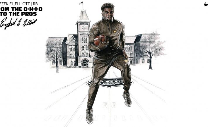 Nike Football Ohio State's Ezekiel Elliott