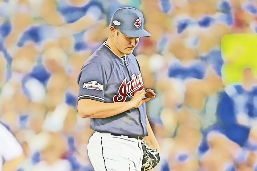 Trevor Bauer Game 3 Indians Blue Jays