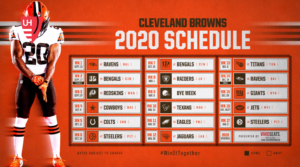 The 2020 Browns Schedule Game Wfny Roundtable Waiting For Next Year